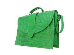 Pistachio Leather Laptop Bag for Women Green Leather by NoussaBags, $69.00