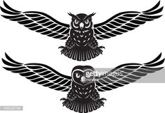 Vector illustration of a eagle owl and a owl .No gradients used. CMYK. Objects grouped for easy editing. Created with AI CS3.