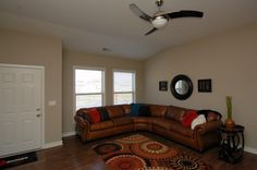 The living room of the Coventry II floor plan by Ball Homes