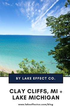 Michigan Travel - Clay Cliffs, Michigan and Lake Michigan - Fun stuff to do in Michigan Lake Michigan, Michigan Travel, Best Family Vacations, Dream Vacations, Best Places To Travel, Places To Go, Romantic Weekend Getaways, Lake Huron, Weekend Fun