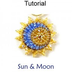 Sun & Moon Pendant-simplebeadpatterns.com-Paid tutorial $14, but so gorgeous and unique. I've never seen one like this before.