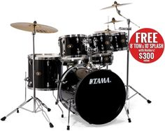 Tama Imperialstar - Black - includes cymbals