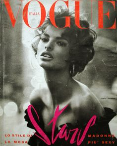 Linda Evangelista by Steven Meisel Vogue Italia June 1990