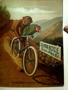 Vintage bicycle ad. Famously repurposed by REM for Reconstruction-era merch.