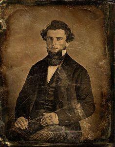 mydaguerreotypeboyfriend:  Unknown man, daguerreotype, ca 1850-58. Nice plaid pants, my friend. Submitted by decrepit-telephone