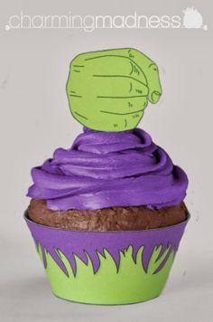 Hulk Cupcakes, Avenger Cupcakes, Incredible Hulk Party, Hulk Birthday Parties, 4th Birthday, Birthday Ideas, Cake Kit, Oh My Fiesta, Avengers Birthday