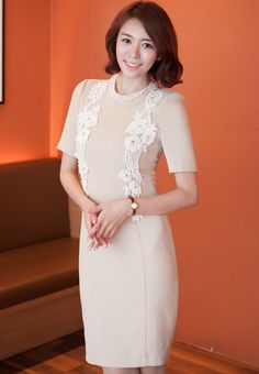 c4d594d806  Secret2Girls  Pencil Cut Dress with Floral Designs Dress Cuts