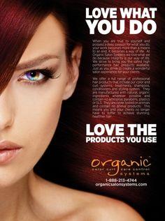 LOVE WHAT YOU DO! www.organiccoloursystems.com.au