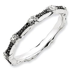 2.5mm Sterling Silver Multi Black and White Diamond Prong Set Eternity Anniversary Ring Band – Size 6	by Stackable Expressions - See more at: http://blackdiamondgemstone.com/jewelry/25mm-sterling-silver-multi-black-and-white-diamond-prong-set-eternity-anniversary-ring-band-size-6-com/#sthash.8qEktdWr.dpuf