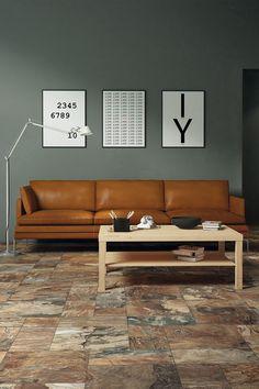 Kale Pietra A Spacco Slate Multicolor Living Room Prints, Home Living Room, Create Your House, Sofa Colors, Floor Decor, Interior Design Living Room, Colorful Interiors, Home Decor, Colour Inspiration