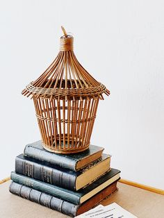 vintage rattan birdcage   #vintage #rattan #birdcage #supermarche #bamboo #homedecor #accessories #decor