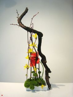 Ikebana Artistry by Donna Canning (Sumi-e Brush Stroke)