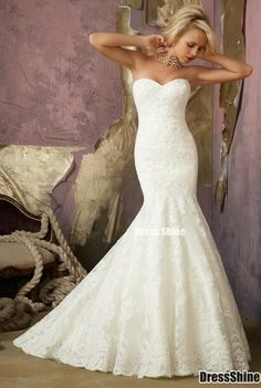 Cheap dress women, Buy Quality wedding dress wedding gown directly from China wedding gown dress Suppliers: Top Sale High Quality Swetheart Sleeveless Lace Mermaid Wedding Dresses with Removable Jacket Silhouette: M Wedding Dress Train, Lace Mermaid Wedding Dress, Mermaid Dresses, Dream Wedding Dresses, Wedding Gowns, Lace Wedding, Dress Lace, Mermaid Gown, Trendy Wedding