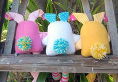 (9) Name: 'Sewing : The Carrot Club - Bunny Soft Toys