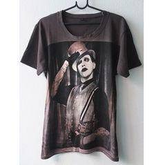 Marilyn Manson Pop Art Film Rock T Shirt M