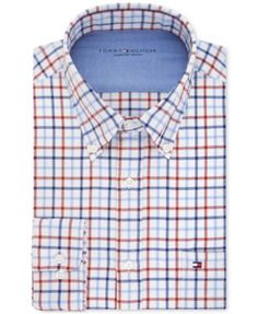 A multicolor-check pattern and a special wash process transform this classic oxford from Tommy Hilfiger into a stylish essential that's soft to the touch for the ultimate in comfort. Finish the look w