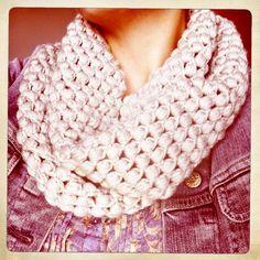 crochet puff stitches scarf