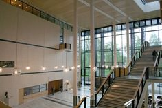 This is University Library at UIO. Blindern, Oslo.  This amazing building blends the classic Scandinavian design with modern style perfectly.