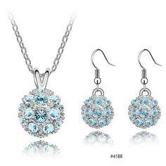 Factory price fashion Shambhala jewelry set Crystal Ball Jewelry Set for Women Nickel Free