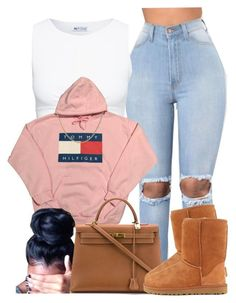 """""""Fall Attire :')"""" by goddessnaii ❤ liked on Polyvore featuring Hermès, UGG Australia and Tiffany & Co."""
