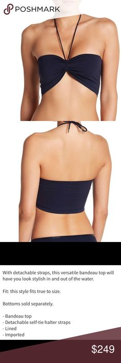 Wolford bikini **top and bottoms** size M WOLFORD – Bandeau Bikini Top WOLFORD – Brief Cut Bikini Bottoms MIDNIGHT  Size-Medium NWT Retail: Top-$145 & Bottoms-$135 Wolford Swim Bikinis