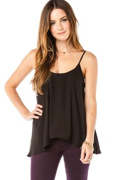 ShopSosie Style : Beacon Tank in Black Black Tank Tops, My Style, How To Wear, Cupcakes, Clothes, Beauty, Women, Fashion, Black Tops
