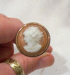 victorian hat pins | BEAUTIFUL ANTIQUE VICTORIAN 9CT ROSE GOLD & CAMEO HAT PIN | eBay