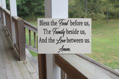Bless the Food Before Us Wood Sign Family by PreciousMiracles