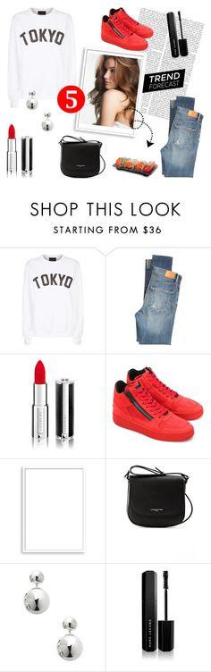 """""""Red Lips & Sushi"""" by lysianna on Polyvore featuring Mode, Private Party, Citizens of Humanity, Givenchy, Hogan Rebel, Bomedo, Lancaster, Sterling Forever und Marc Jacobs"""