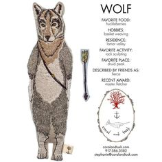 Coral & Tusk - Wolf Pocket Doll