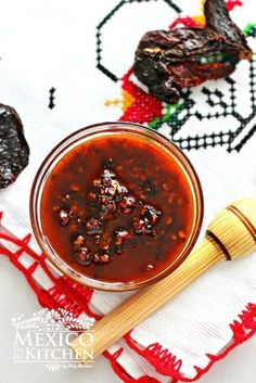 Chile Morita Salsa with Oil recipe, Salsa Macha, a very hot and spicy sauce. #food #mexican