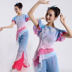 feng su yu yi with 2 sleeves different seller  新款风酥雨亿舞蹈服装 秧歌服装 古典舞演出服 民族舞台服装 伴舞-tmall.com天猫