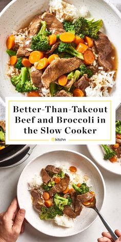 Slow Cooker Beef and Broccoli Thats Better Than Takeout. Need recipes and ideas for easy dinners and meals for families? Make this in your crockpot for a simple fast chinese food dinner. easy dinner recipes for family Large Slow Cooker, Crock Pot Slow Cooker, Slow Cooker Recipes, Beef Recipes, Cooking Recipes, Healthy Recipes, Crockpot Ideas, Fast Recipes, Crockpot Recipes Fast
