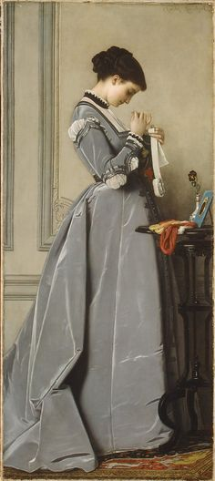 Penelope, a painting by Charles Francois Marshal, 1868                                             Charles-François Marchal