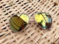 Vintage Gold Oversized Aviator Sunglasses Revo Lenses Big Round Retro op Etsy, 11,54 €