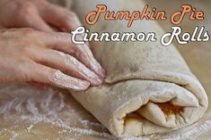 Pumpkin Pie Cinnamon Rolls - yes, please!