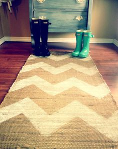 Chevron rug for entry way