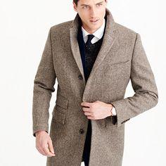 Ludlow topcoat in herringbone English wool