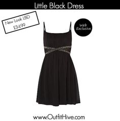 Gorgeous #Black New Look Dress  To Buy go to: http://tidd.ly/28d82976  This dress can only be found on the website.   Upload Your Look to today's topic #Black on our website.  www.OutfitHive.com  #OOTD #LBD #Black #NightOut #Dress #EveningWear #FashionBlogger