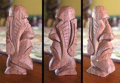 Royal Ponciana Moai by tflounder on DeviantArt Tiki Statues, Wooden Statues, Tiki Faces, Tiki Totem, Tiki Tiki, Tiki Head, Dremel Wood Carving, Tiki Mask, Clay Art Projects
