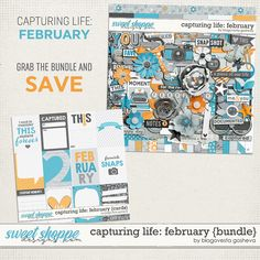 Capturing life: February {Bundle} by Blagovesta Gosheva. 20% off at Sweet Shoppe Designs. Also available in separate packs.