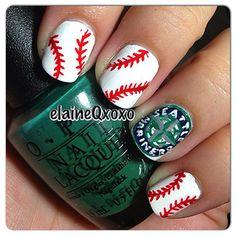 seattle mariners by elaineqxoxo  #nail #nails #nailart