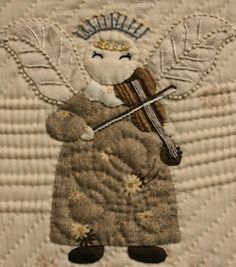 close up of Angel quilt