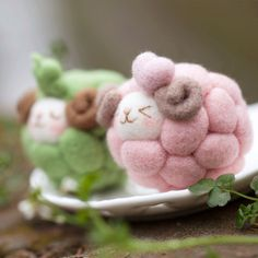 Funny little felty sheep