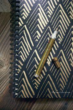 gold leaf sketchbook cover