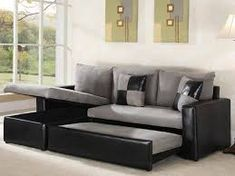 Pull Out Couch - The best get-togethers are those that seem to never end. Sleeper sofas make watching movies, playing games, or just catching up over a glass of milk an easy overnight affair Teenage Girl Bedrooms, Girls Bedroom, Deep Sectional, Small Kitchenette, Pull Out Couch, Movies Playing, Playing Games, Spacious Living Room, Game Room