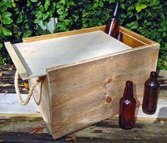 24 Bottle Wood Beer Crate, Craft Beer, Rustic, Wood Crate, Storage Box, Beer Bottle, Bottle Carrier, Bottle Caddy