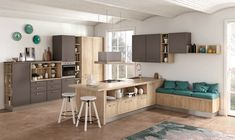 Rewind is the new kitchen system from Creo Kitchens. Each model expresses different ways of experiencing the kitchen, with one common denominator: aesthetic functionality. Kitchen Cupboards, New Kitchen, Hearth, Entryway, Furniture, Modern Kitchens, Showroom, Design, Home Decor