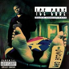 "todayinhiphophistory: ""Today in Hip Hop History: Ice Cube released his second album Death Certificate October 1991 "" Best Hip Hop, Hip Hop And R&b, Hip Hop Rap, Rap Albums, Music Albums, Classic Hip Hop Albums, True To The Game, Best Rap Album, Greatest Albums"