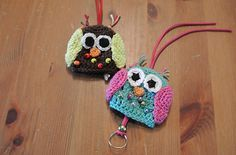 "Owl Key Cover Cozy - Free Amigurumi Crochet Pattern - PDF Format - Click to ""download"" here:  http://www.ravelry.com/patterns/library/owl-key-cover-cozy"